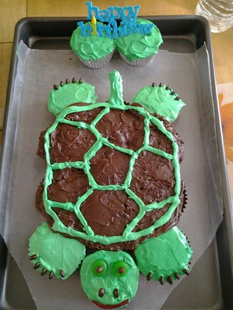 PullApart Turtle Cupcakes Recipe Dishmaps