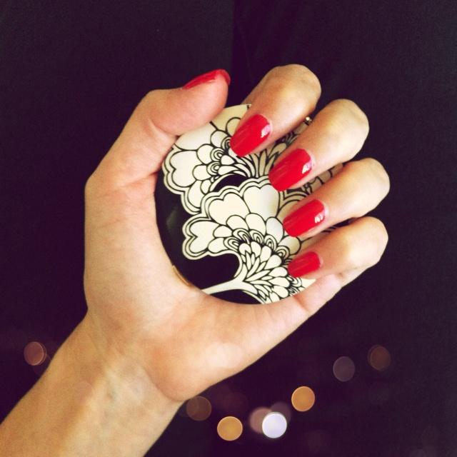 Shellac Nails + Kate Spade Love, Love, Love Shellac Nails. Last for 3