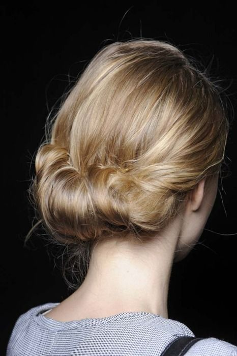 Simple hair.