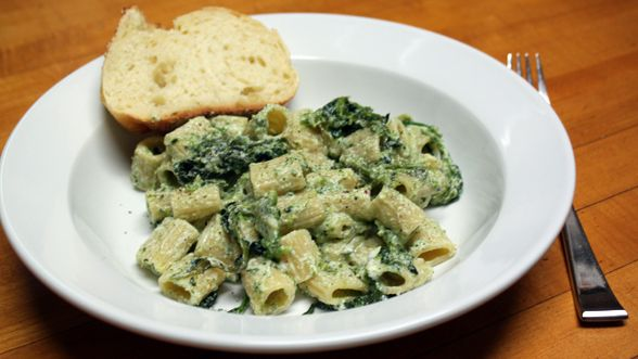 Roasted Broccoli Rabe and Roasted Garlic Rigatoni