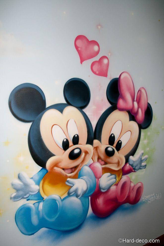 Plan Cuisine En U Avec Coin Repas : Mickey @ Minnie  decoaerosolchambremickeyminniejpg