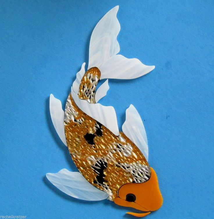 Precut stained glass art kit koi fish mosaic stepping for Koi fish for sell