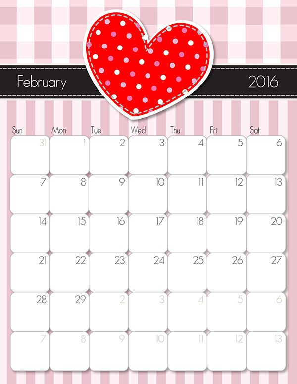 25+ unique February 2016 calendar template ideas on Pinterest ...
