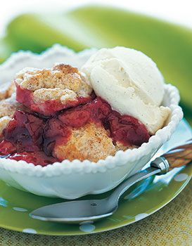 Plum Cobbler with Cinnamon Biscuits | Recipe