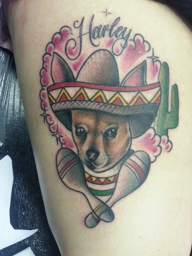 chihuahua tattoo chihuahua sombrero grandma stuff pinterest. Black Bedroom Furniture Sets. Home Design Ideas