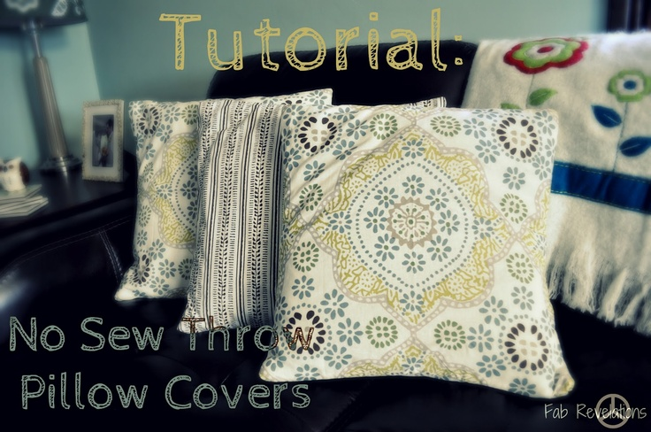 Throw Pillow Sewing Instructions : Pinterest: Discover and save creative ideas