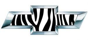 Zebra Print Chevy Bowtie Emblem Decals