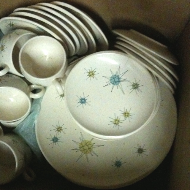 vintage 1950s franciscan starburst dinner wear dish set for sale