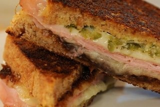Grilled Ham and Cheese with Cornichon Spread — Recipe from Martha ...