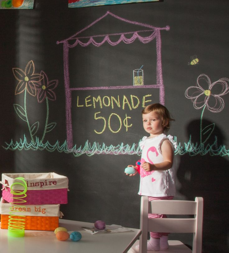 Craft Room with Chalkboard Wall