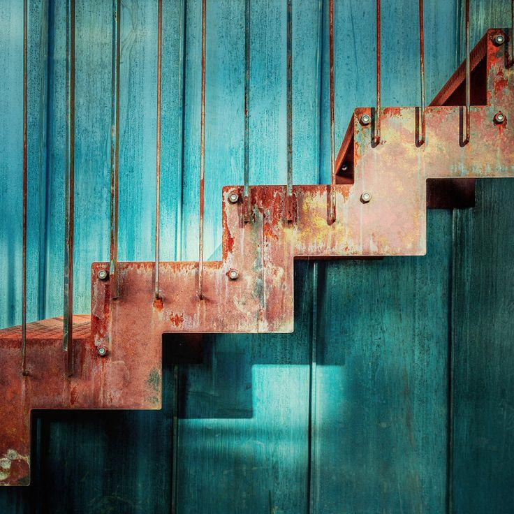 Red stairs by une vache deviantart on deviantart