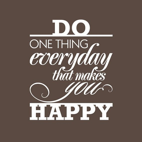WALL DECAL quotes -Do one thing everyday that makes you happy- Surfac…