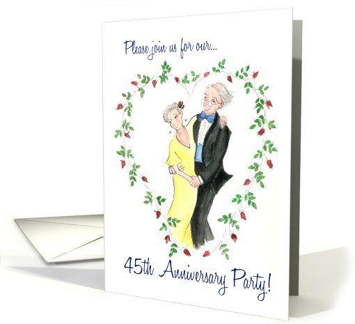 Wedding Gifts For 45th Anniversary : Invitation 45th Wedding Anniversary Card