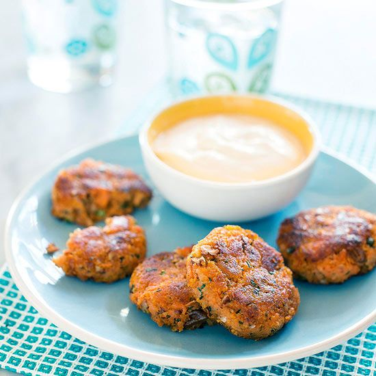 potatoes to create these deliciously dippable Sweet Potato Patties ...