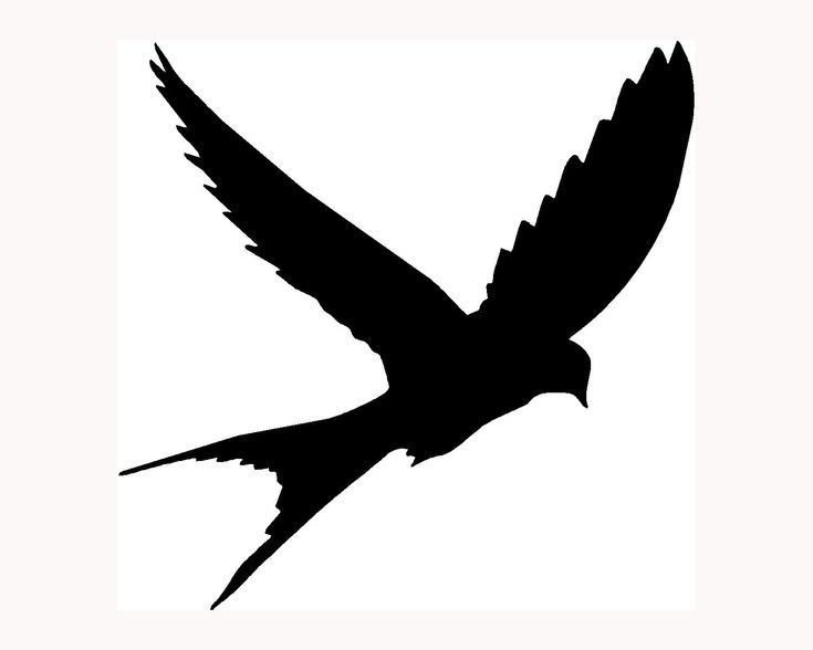 Crow Silhouette Flying at GetDrawingscom  Free for