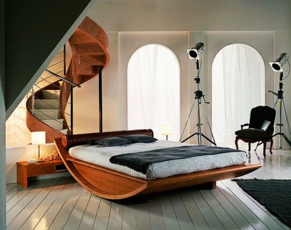 I love the idea of a curved structure with a flat surface. I wish it could lull us to sleep.