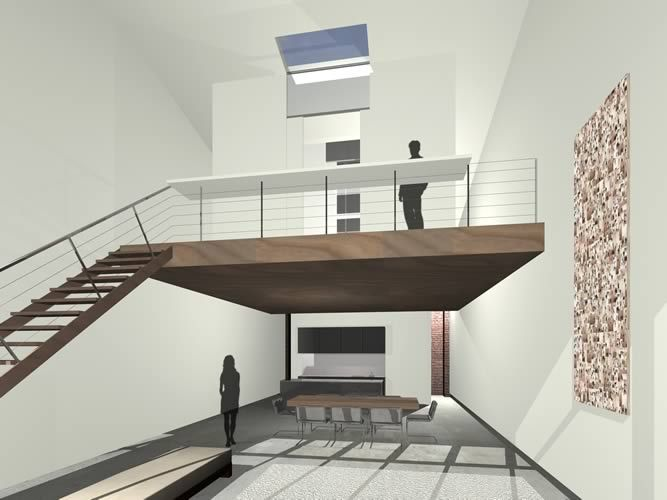 3d modern mezzanine design ideas mezzanine pinterest - Open mezzanine ...
