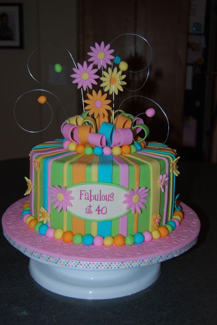 40th birthday cake cakes pinterest for 40th birthday cake decoration