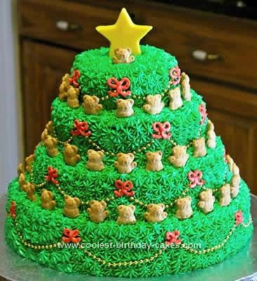Images Of Christmas Tree Cake : Stacked