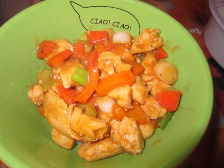 Spicy peanut chicken | chinese | Pinterest