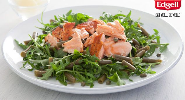 Rocket Salmon Salad with Capers and Shaved Parmesan | Recipe