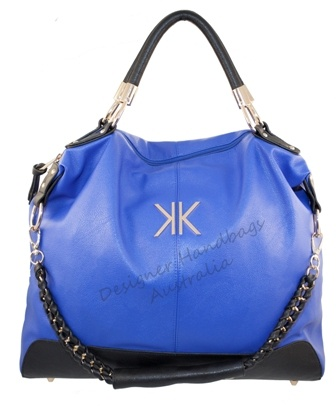 KK Kardashian Kollection Cobalt Blue Colour Block Slouch Handbag