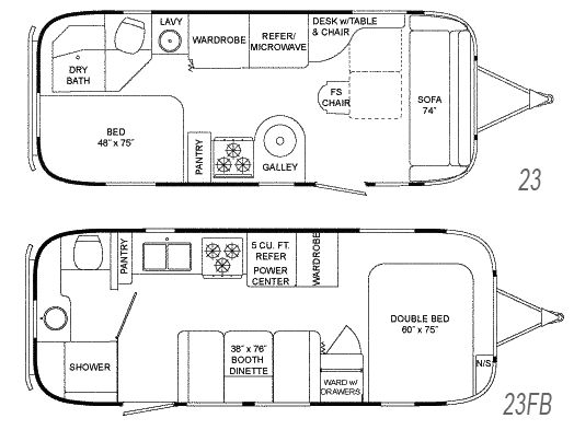flying cloud floorplans modern mobile home pinterest new small airstream travel trailers floor plans