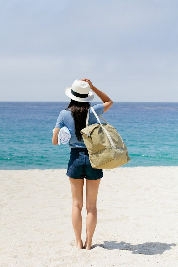 A travel bag that doubles as a beach bag.