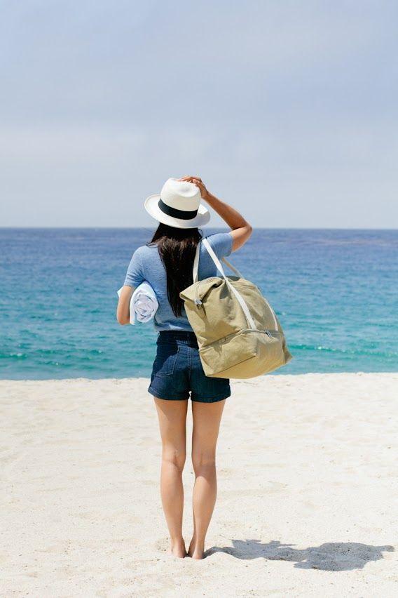 A travel bag that doubles as a beach bag.