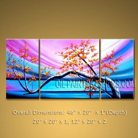 Large Framed Oil Painting Abstract Modern Canvas Wall Art Blossom Tree