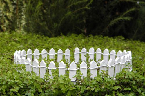 fairy garden picket fence