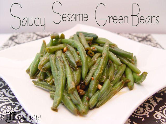Saucy Sesame Green Beans | Food | Pinterest