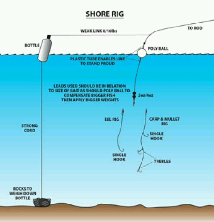 shore rig fishing rigs knots pinterest