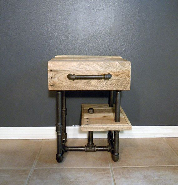 End of year sale!!! Pallet/Pipes Nightstand/Side Table on Etsy, $249 ...