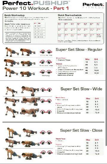 Perfect Pushup Workout Training Pinterest