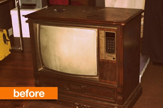 Before & After: Console TV to Puppet Theater