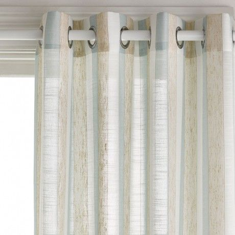 Pull String Curtain Rods Chartreuse Green Sheer C