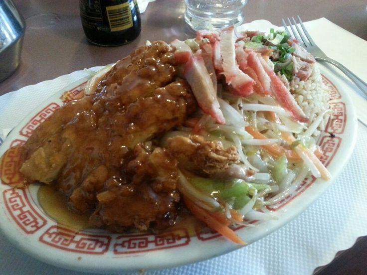 Lemon Chicken, Double Pork Chow Mein, Pork Fried Rice - yum!!
