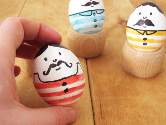 Mustache Men Easter Eggs