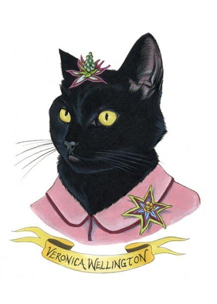 Black Cat Print | Little Paper Planes