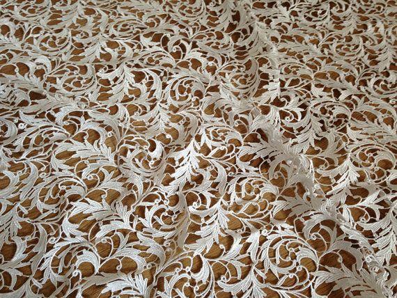 Crochet Fabric : Bridal Lace Fabric, Crochet Lace Fabric ,White Wedding Dress Fabric ...