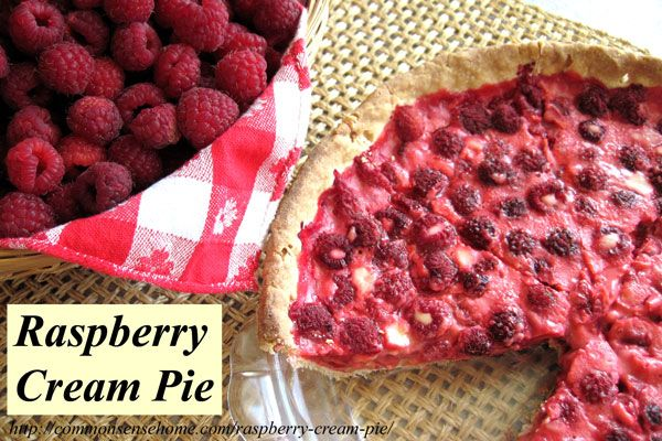 Raspberry Cream Pie - Passed down from my mother, this smooth and rich ...