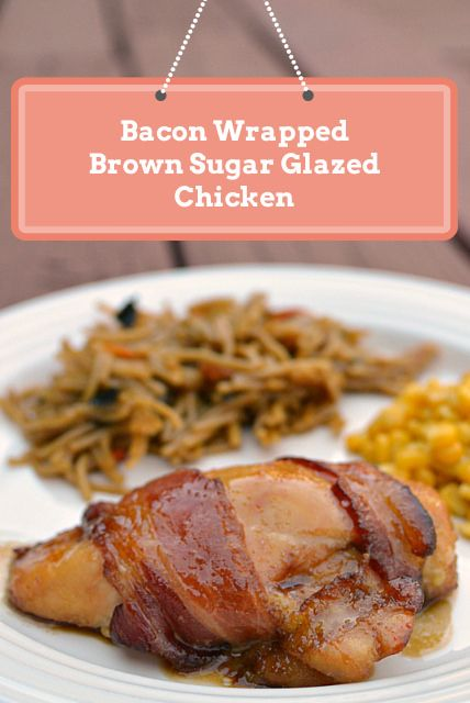 Bacon Wrapped Brown Sugar Glazed Chicken by threedifferent, via Flickr