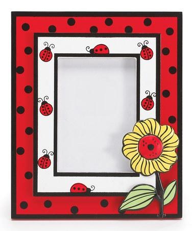 ladybug amp sunflower picture frame
