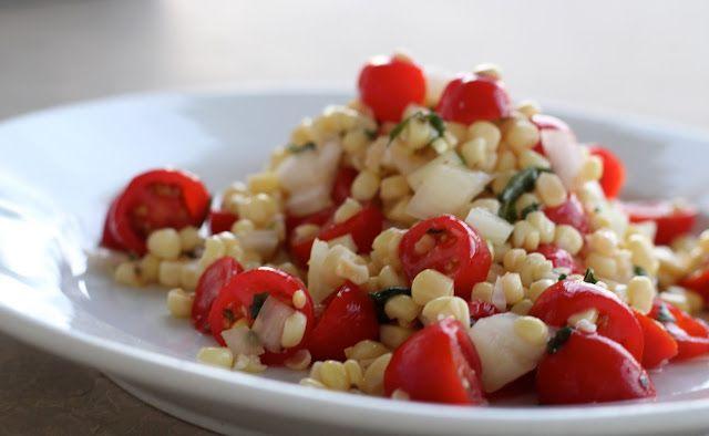 Fresh Corn and Tomato Salad | Side Dishes | Pinterest
