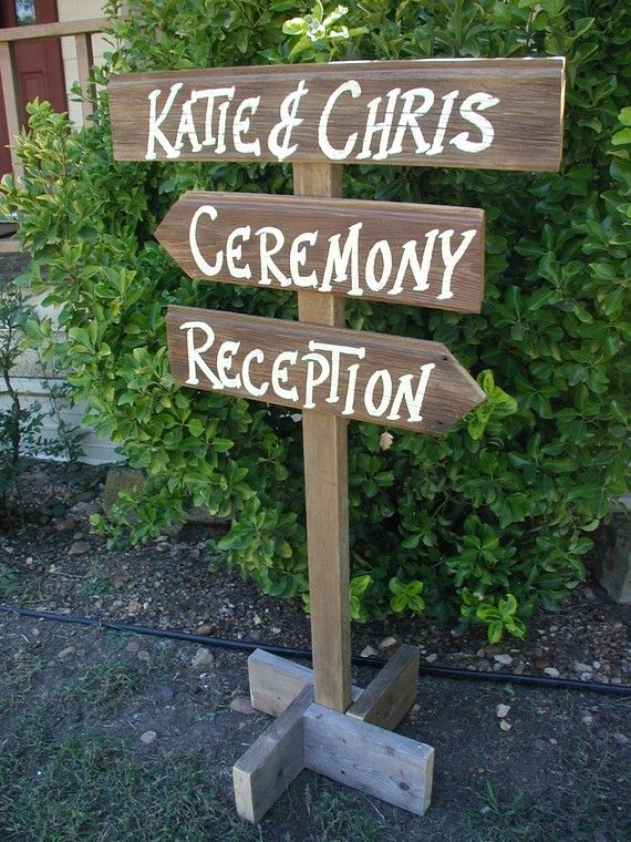 Pole post wood wedding sign free standing bridal personalized names t
