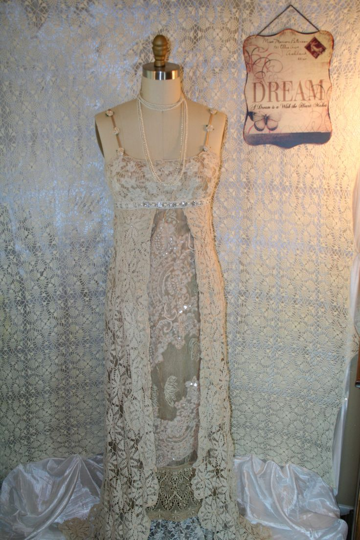 Pictures Of Shabby Chic Wedding Dresses : Upcycled wedding dress bojo gypsy tattered shabby