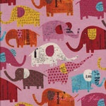tent fabric   Kokka Nancy Wolff Circus Elephants Pale Pink [IMPORT-70100-103-A] - $15.96 : Pink Chalk Fabrics is your online source for modern quilting cottons and sewing patterns., Cloth, Pattern + Tool for Modern Sewists