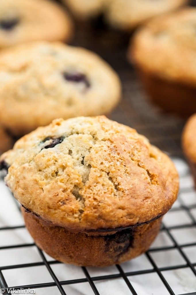 Lemon Blueberry Muffins-made moist with Greek yogurt and flavourful ...