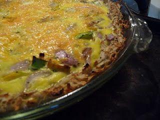 Potato-crust veggie quiche | Brekkers | Pinterest